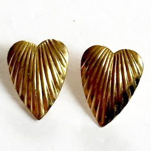 Vintage HEART Gold Earrings